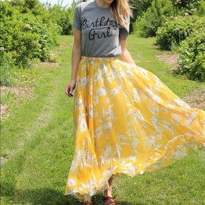 Chicwish Maxi Floral Chiffon Skirt
